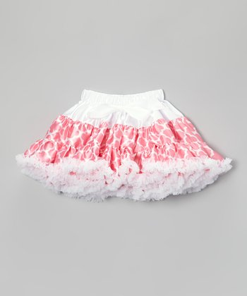Light Pink Geometric Pettiskirt - Toddler & Girls