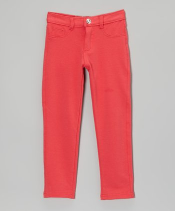 Fuchsia Straight-Leg Jeans - Girls