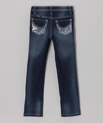 Dark Wash Skinny Jeans - Girls
