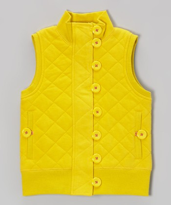 Sulphur Quilted Vest - Girls