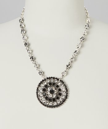 Silver Shimmer Pendant Necklace