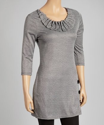 Gray Scoop Neck Dress