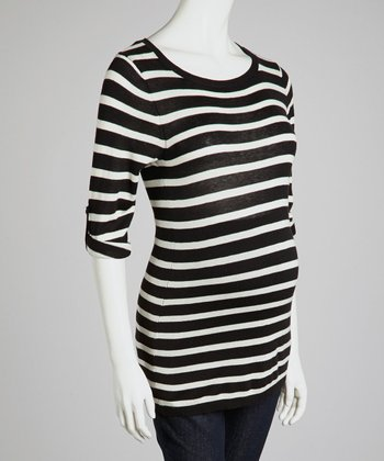 Black & White Maternity Sweater - Women