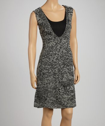 Black & Gray Sleeveless Tunic