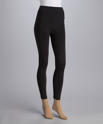 Charcoal Fleece-Lined Leggings