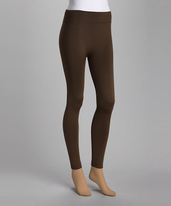 Olive Fleece-Lined Leggings