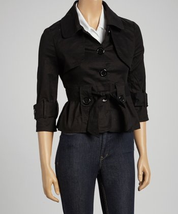 Black Belted Short Jacket