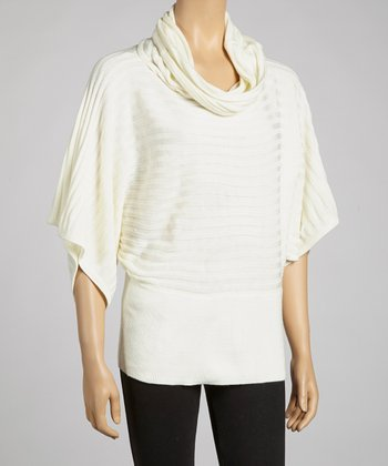 Ivory Cowl Neck Dolman Sweater