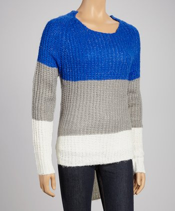 Royal Blue Stripe Sweater