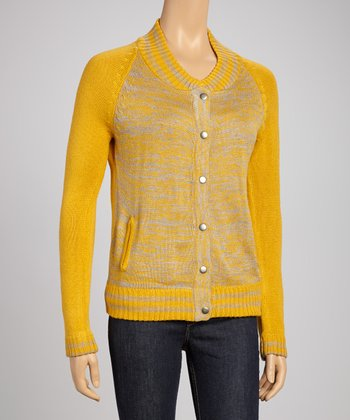 Mustard Button-Up Sweater