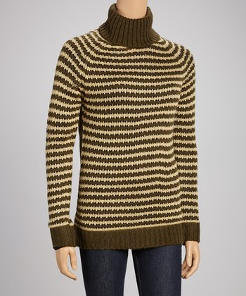 Olive & Stone Stripe Turtleneck Sweater