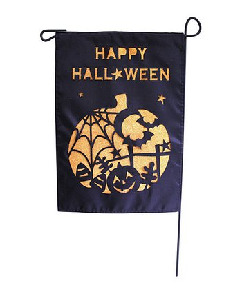 Laser-Cut Halloween Pumpkin Garden Flag