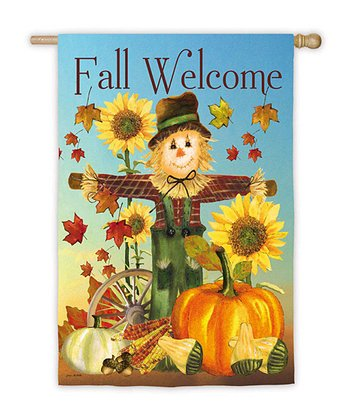 'Fall Welcome' Scarecrow Flag