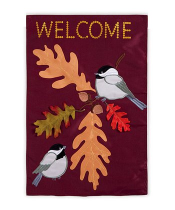 Chickadee Welcome Flag