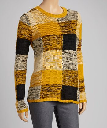Mustard Plaid Sweater