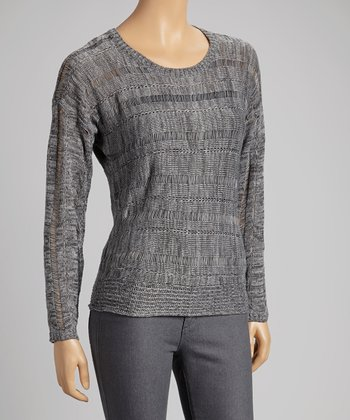 Heather Gray Textured Sweater