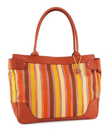 Natural Stripe Tote