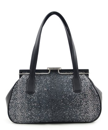 Black Stingray Embossed Satchel