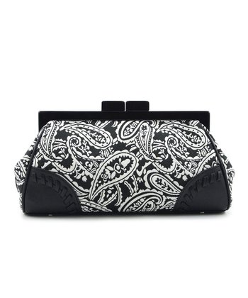 Black & White Paisley Clutch