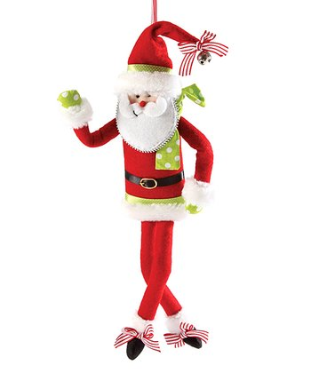 Bendable Santa Ornament