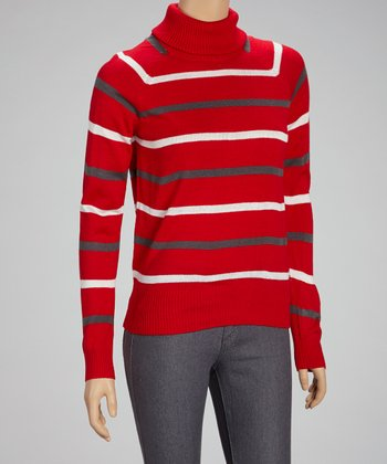Red Stripe Turtleneck