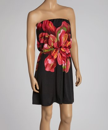 Azalea Floral Strapless Dress