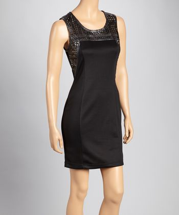 Black Perforated Dress