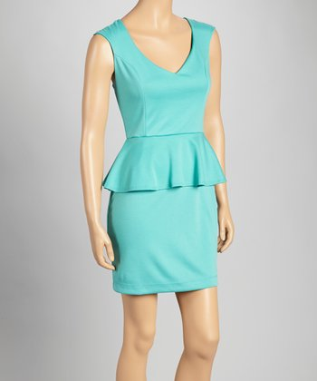 Jade Peplum Dress