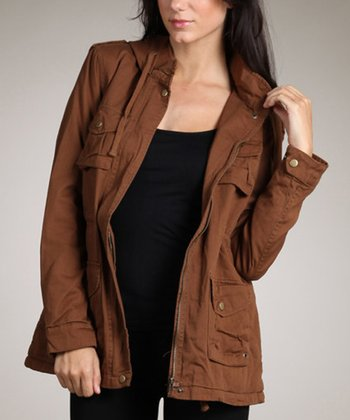 Mocha Zip-Up Jacket
