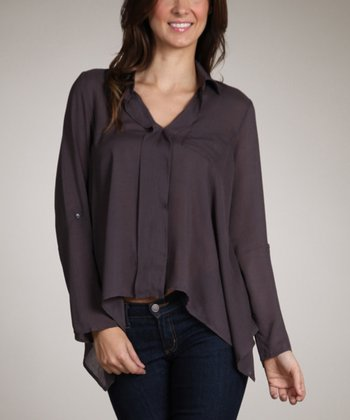 Gray Sidetail Top