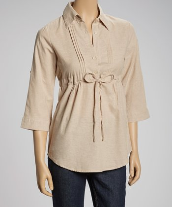 Sand Button-Up Top