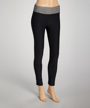 Black & Gray Denim Leggings