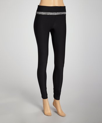 Black & Gray Stripe Leggings