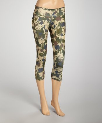 Green Camo Capri Pants