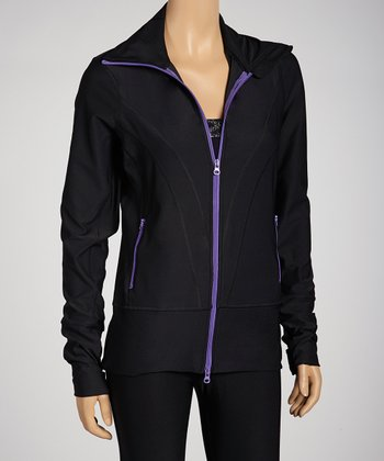 Black & Purple Track Jacket