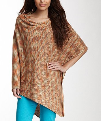 Orange & Tan Desert Poncho
