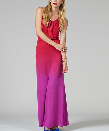 Pink & Purple Ombré Maxi Dress - Women
