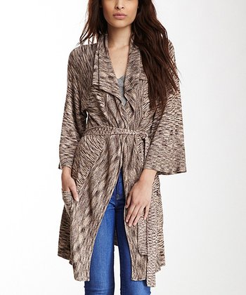 Brown Oak Open Cardigan - Women