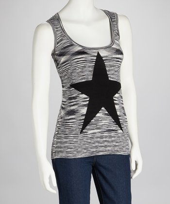 Black Stripe Star Tank - Women