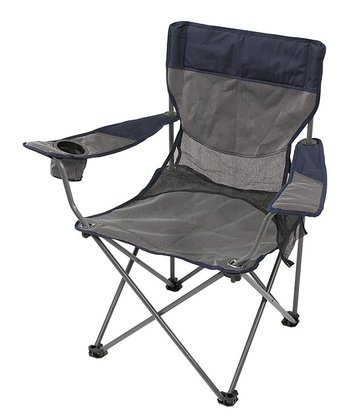 Gray & Navy Apex Deluxe Armchair