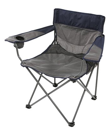 Navy & Gray Apex Deluxe Oversize Arm Chair