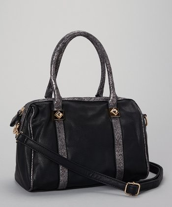 Black & Silver Gray Satchel