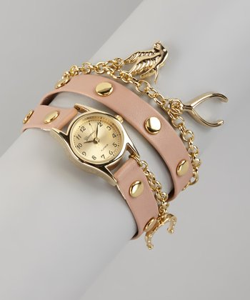 Blush Charm Wrap Watch