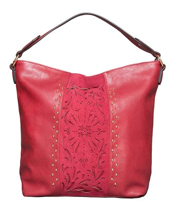 Bordeaux Laser-Cut Hobo