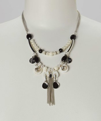 Black Jet Charm Necklace