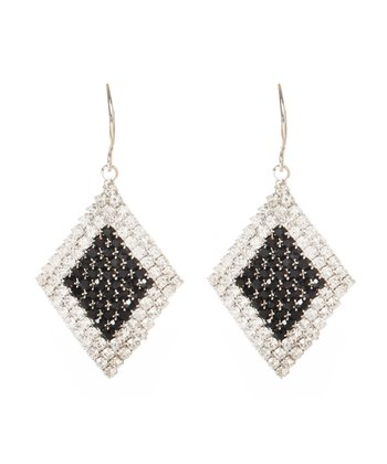 Crystal & Black Eve Earrings