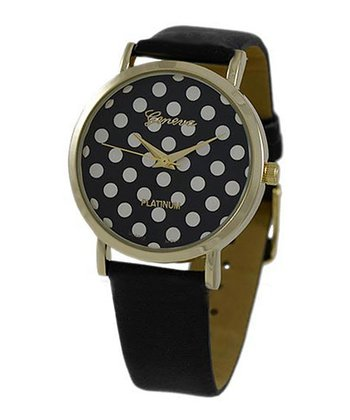 Black Polka Dot Watch