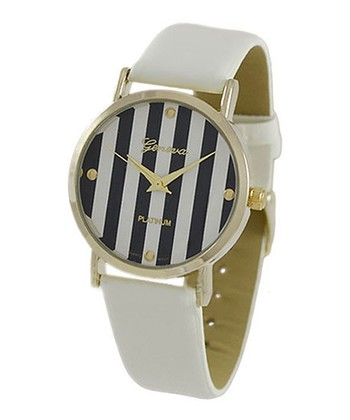 White Stripe Watch