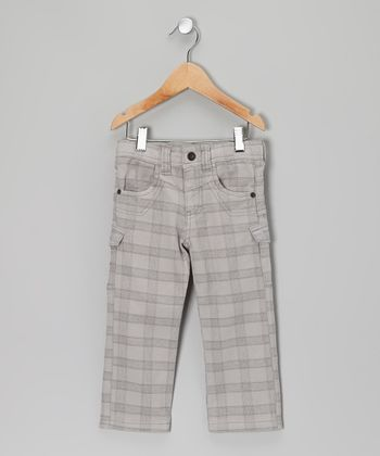 Light Gray Plaid Pants - Toddler & Boys