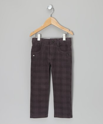 Dark Gray Plaid Pants - Toddler & Boys